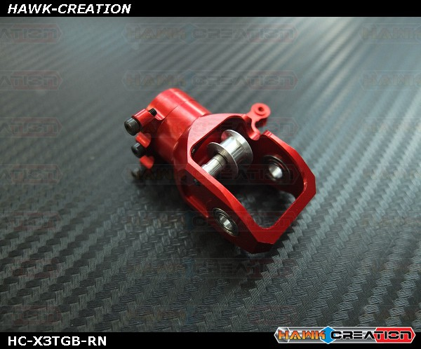 Upgrade Tail Gear Box (Clamp Style)Red without belt pulley- X3