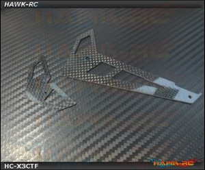 Hawk Creation 3K Carbon 1mm Fin & Tail (Matt surface)- GAUI X3