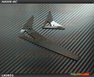LYNX Carbon Fiber Vertical Fin Set - Gaui X3