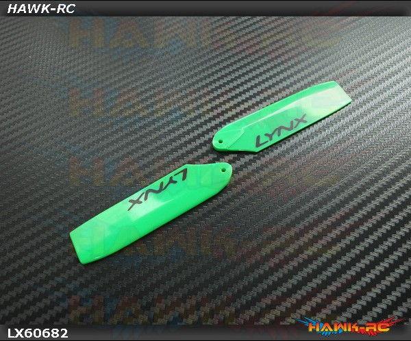 Lynx Plastic Tail Blade 68 mm - Green (For 360mm Class)