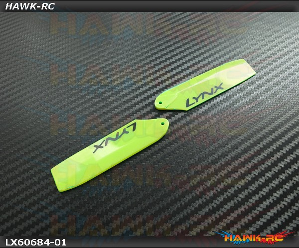 Lynx Plastic Tail Blade 68 mm - Yellow  (For 360mm Class)