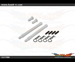 X7 FORMULA Canopy Posts (Silver Anodized) - (074204)