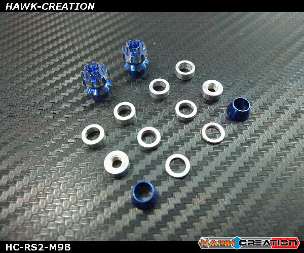 Hawk Creation Anti Slip Stick Rocker for FrSky Taranis X9D/E, M9 Gimbal (M4, 5mm Rod) Blue