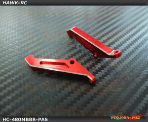 Hawk Creation LOGO 480/550 CNC Metal Pitch Arm Set (Red)
