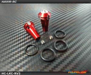 Hawk TX Switch Knobs Cap Red Long V2 (2pcs, Fit All Brand TX)