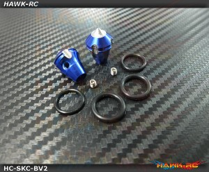 Hawk TX Switch Knobs Cap Blue Short V2 (2pcs, Fit All Brand TX)