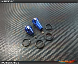 Hawk TX Switch Knobs Cap Blue Long & Short V2 (2pcs, Fit All Brand TX)