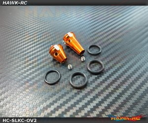 Hawk TX Switch Knobs Cap Orange Long & Short V2 (2pcs, Fit All Brand TX)