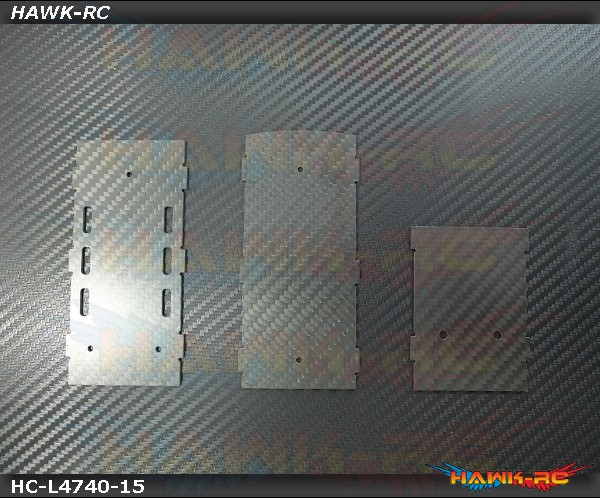 Hawk Creation 1.5mm RC/ESC Mounting Frames For LOGO 700