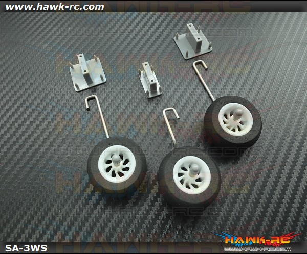 SkyAngel Landing Wheels Set (For 50mm EDF or Apx 500mm Wing Size)