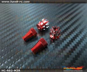 Hawk Creation Anti-Slip Stick Rocker End For JR XG8,11,14 (M4, Red)