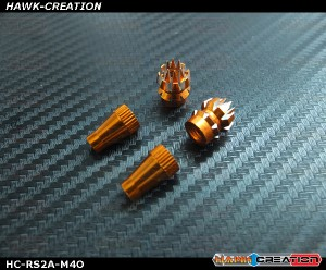 Hawk Creation Anti-Slip Stick Rocker End For JR XG8,11,14 (M4, Orange)