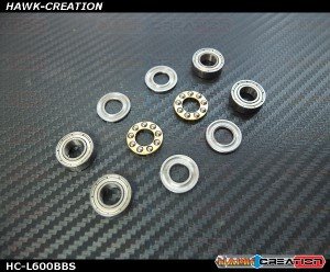 Hawk Creation Bearing Sets (Suitable For Logo 600 Blade Grip / Hawk HC-060 Logo 600 Grip)