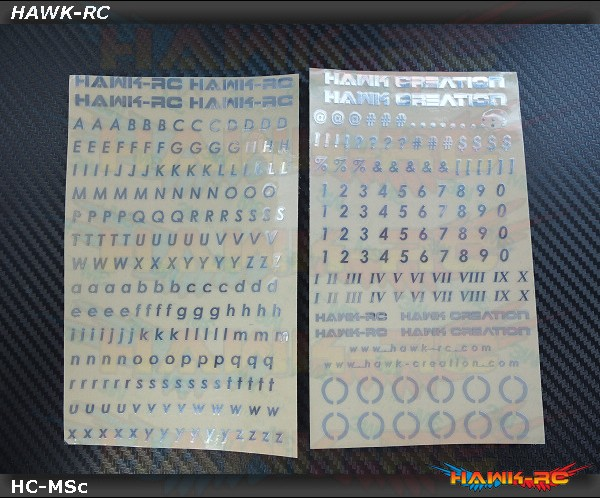 Hawk Creation Pilot Name Canopy Metal Sticker Set