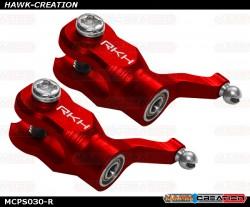 Rakonheli CNC AL Main Blade Grip Set (Red)- Blade mCP X/V2/S