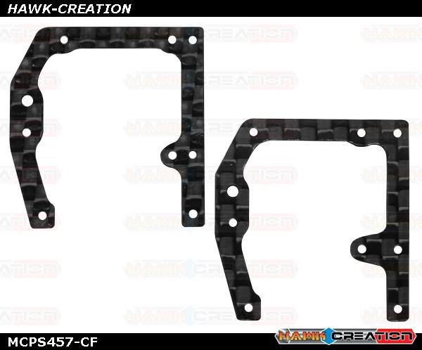 Rakonheli CNC Carbon Side Frame Set (for mCPS452/454)
