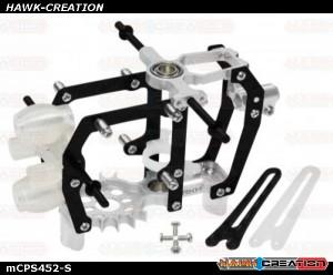 Rakonheli CNC AL Carbon Main Frame Set (Silver) - Blade mCP S