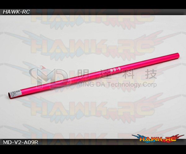 MD5/6 - MD-V2-A09R - Tail Boom & Torque Tube - MD6 - Red