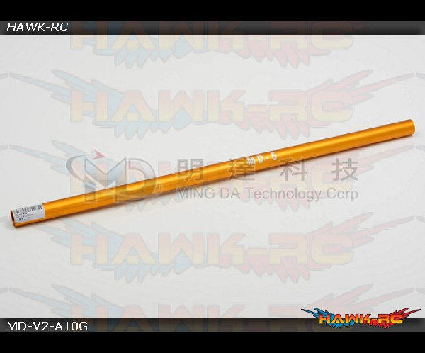MD5/6 - MD-V2-A10G - Tail Boom & Torque Tube - MD5 - Gold / Yellow