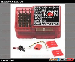 Mini iKON2 Flybarless System w/ Remote USB / Mounting Pad & Cable Set IKON2005