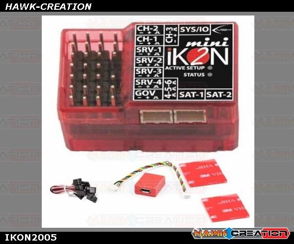 Mini iKON2 Flybarless System w/ Remote USB / Mounting Pad & Cable Set IKON2005