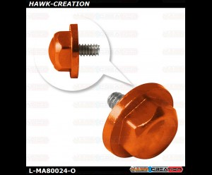 L-MA Precision Aluminum Tail Propeller Adapter Set for OMPHOBBY M1 (Orange)