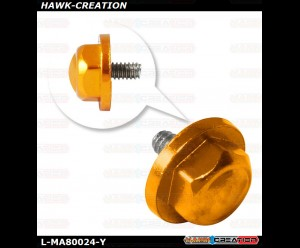 L-MA Precision Aluminum Tail Propeller Adapter Set for OMPHOBBY M1 (Yellow)