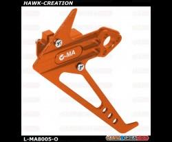 L-MA Precision Aluminum Vertical Tail Fin Set for OMPHOBBY M1 (Orange)