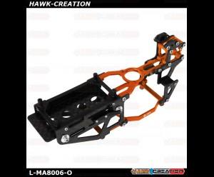 L-MA Precision Aluminum Carbon Fiber X Frame Set for OMPHOBBY M1 (Orange)