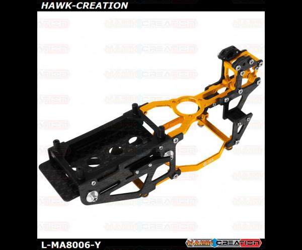 L-MA Precision Aluminum Carbon Fiber X Frame Set for OMPHOBBY M1 (Yellow)