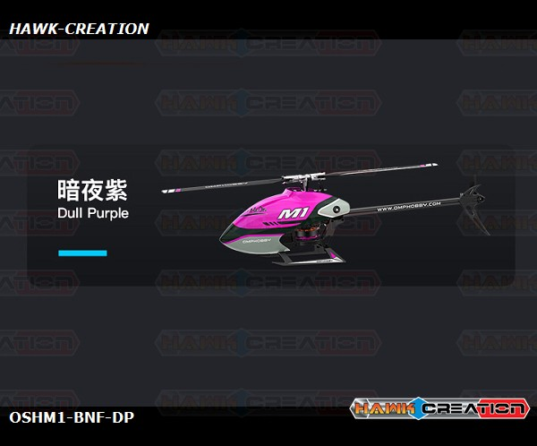 OMPHOBBY M1 3D Helicopter BNF - Dull Purple (Futaba Receiver)