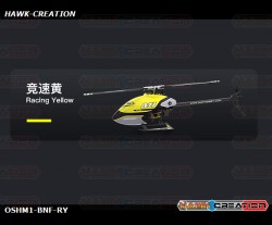 OMPHOBBY M1 3D Helicopter BNF - Racing Yellow (OMP Receiver)