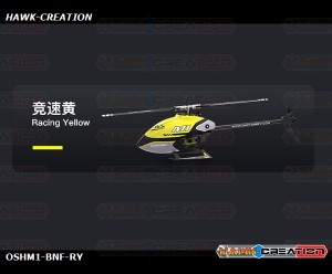OMPHOBBY M1 3D Helicopter BNF - Racing Yellow (Futaba Receiver)