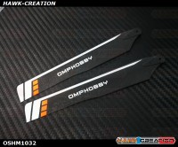 OMPHOBBY M1 3D Helicopter 125mm Main Blades(Orange)-(Hard)  OSHM1032