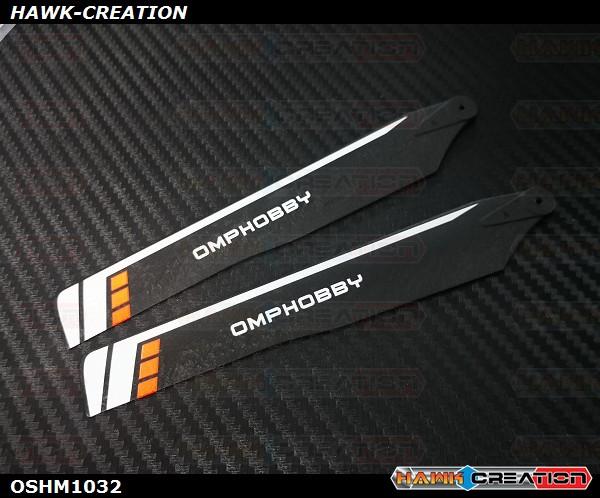 OMPHOBBY M1 3D Helicopter 125mm Main Blades(Orange)-(Hard)  OSHM1032