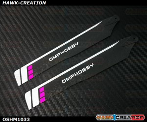 OMPHOBBY M1 3D Helicopter 125mm Main Blades(Purple)-(Hard)  OSHM1033