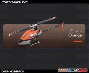 OMPHOBBY M2 Dual-brushless Motor Direct-drive 3D Heli-BNF (Charm Orange) with Bonus Pack