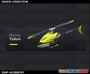OMPHOBBY M2 Dual-brushless Motor Direct-drive 3D Heli-BNF (Racing Yellow) with Bonus Pack