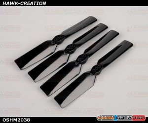 OMPHOBBY M2 3D Helicopter Tail blade-Black OSHM2038