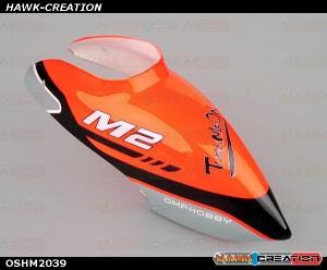 OMPHOBBY M2 3D Helicopter Canopy (1pcs) OSHM2040 Chram Orange