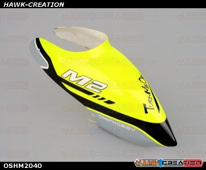 OMPHOBBY M2 3D Helicopter Canopy (1pcs) OSHM2041 Racing Yellow