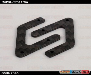 OMPHOBBY M2 3D Helicopter Carbon fiber back plate OSHM2046