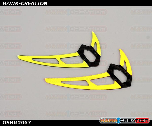 OMPHOBBY M2 3D Helicopter Carbon fiber veritical stabilizer (2pcs) OSHM2067 (Yellow)