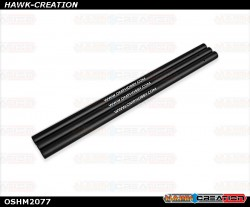 OMPHOBBY M2 3D Helicopter ALU. tail boom Black (3pcs) OSHM2077