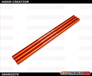 OMPHOBBY M2 3D Helicopter ALU. tail boom Orange (3pcs) OSHM2079