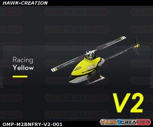 OMP Hobby M2 RC Helicopter V2 Version OMPHobby M2 -V2 (Racing Yellow) with Bonus Pack