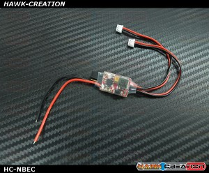 Hawk Nano size BEC 2~6S 6v/7.4v (3A/5A peak) for HV servos [In Stock]
