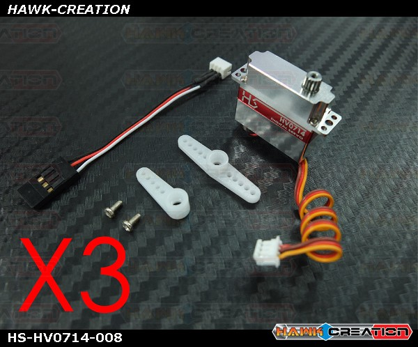 HV0714 Ultra Micro Size Digital Servo for OXY2 - 3pcs Combo