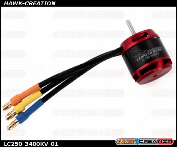 Leopard Motor Brushless Outrunner 3400Kv for 250 Size RC Helicopters ( OXY2 /17T )