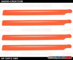 OXY2 - Plastic Main Blade 210mm, 2 set, Orange
